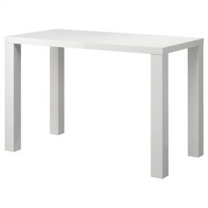 שולחן מזנון מלבני לבן להשכרה