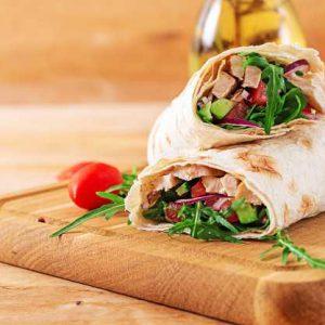 דוכני מזון טורטייה בשרית